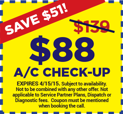 $88 A/C Check-Up Special